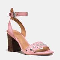 Coach Paige Studded Heel Pink Pink