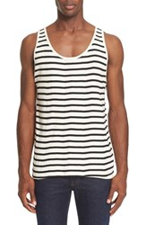 Saturdays Surf Nyc Men's Nick Stripe Tank Ivory