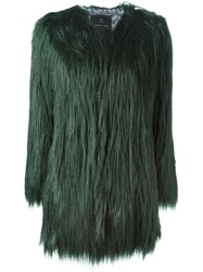 Unreal Fur Faux Fox Fur Jacket Green