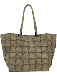 Jamin Puech Embossed Shopper Tote Green