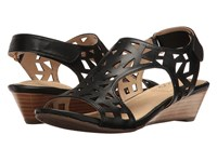 Me Too Sienna Black Women's Wedge Shoes