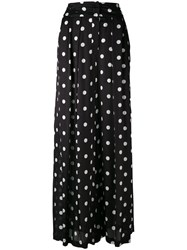 Christian Wijnants Polka Dot Wide Leg Trosuers Black
