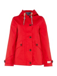 Joules Coast Waterproof Hooded Jacket Red