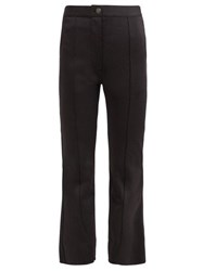 Givenchy Stitched Front Kick Flare Trousers Black