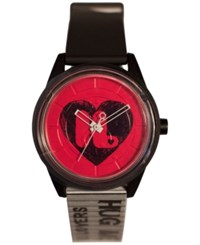Harajuku Lovers Unisex Hearts Designed By Gwen Stefani Black And White Printed Strap Watch 40Mm Hl2634