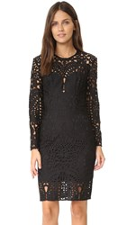 Lover Harmony Lace Long Sleeve Mini Dress Black