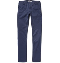 Orlebar Brown Catalan Slim Fit Cotton Twill Trousers Blue
