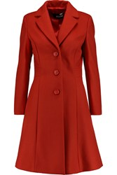 Love Moschino Embellished Wool Blend Coat Red
