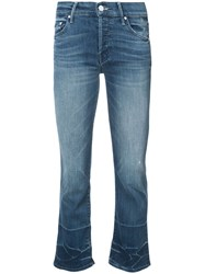 Mother Growing Pains Jeans Women Cotton Polyester Spandex Elastane 26 Blue