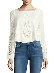 The Jetset Diaries Gypsy Lace Cropped Blouse Ivory