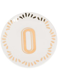 Bitossi Home Letter Print Small Plate 60