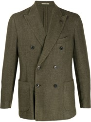 Gabriele Pasini Double Breasted Fitted Blazer Green