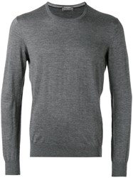 Barba Classic Sweater Men Silk Cashmere 48 Grey