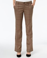 Tommy Hilfiger Glen Plaid Pants Only At Macy's Tobacco Brown