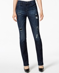 Dkny Jeans Ripped Skinny Jeans Pier 11 Wash
