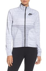 Nike Women's Sportswear Advance 15 Track Jacket White Black