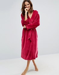 Ted Baker Moleskin Long Robe Berry Red