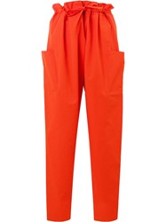 Maison Rabih Kayrouz Paper Bag Trousers Red