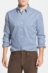 Men's Big And Tall Peter Millar 'Nanoluxe' Regular Fit Wrinkle Free Check Twill Sport Shirt