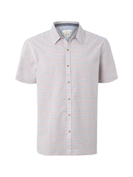 White Stuff Stripe Classic Fit Classic Collar Shirt Red