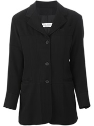 Dolce And Gabbana Vintage Three Button Blazer Black