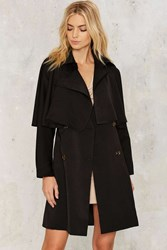 Jovonna London Cape It Together Trench Coat Black