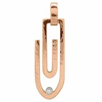 Torrini Clips 18K Pink Gold Pendant With Diamond
