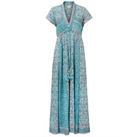 East Anokhi Yasmin Print Maxi Dress Blue