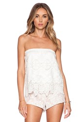 Nightcap Embroidered Tube Top White