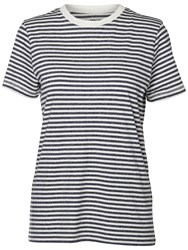 Selected Femme My Perfect Stripe T Shirt Peacoat Off White