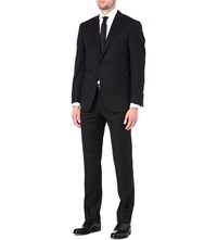 Corneliani Single Breasted Tapered Wool Suit Black