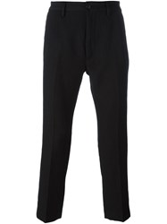 Pence Straight Cropped Trousers Black