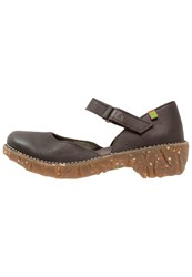 El Naturalista Yggdrasil Platform Heels Brown Dark Brown