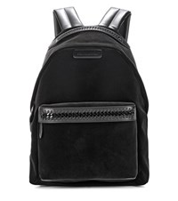 Stella Mccartney Falabella Go Black Velvet Backpack