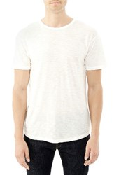 Alternative Apparel Men's 'Post Game' Crewneck T Shirt Vintage White