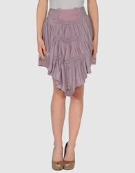 Thierry Colson Skirts Knee Length Skirts Women Lilac