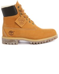Timberland Premium Fur Lined Nubuck Wheat 6 Inch Boots