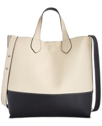 Styleandco. Style Co. Clean Cut Reversible Crossbody Tote Only At Macy's Cream Black