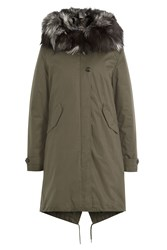 Woolrich Parka With Fox Fur Green