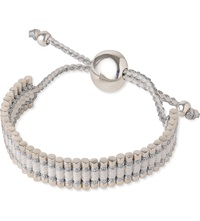 Links Of London Friendship Bracelet Pewter And White