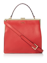 Biba Nova Frame Leather Bag Red