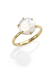 Ippolita Rock Candy Mother Of Pearl Clear Quartz And 18K Yellow Gold Doublet Ring