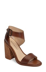 Kelsi Dagger Women's Brooklyn Mayfair Asymmetrical Strap Heel Tan Leather