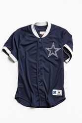 Mitchell And Ness Dallas Cowboys Pro Mesh Button Front Jersey Navy