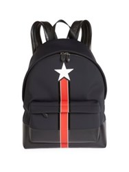 Givenchy Striped Backpack Black Red