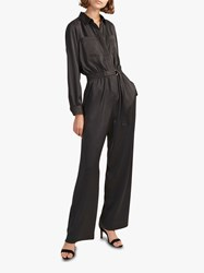 French Connection Enid Crepe Jumpsuit Dark Slate