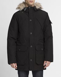 Penfield Black Fur Hood Long Padded Hoosac Parka