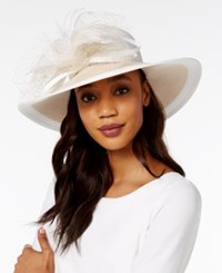 August Hats Freesia Wide Brim Hat White Natural