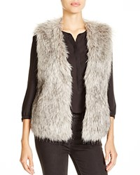 Jack By Bb Dakota Faux Fur Vest Grey
