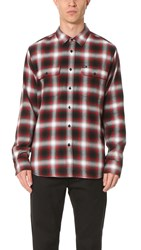 Obey Dobbs Woven Shirt Red Multi